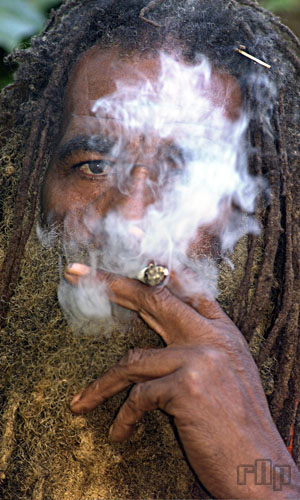 smoking ganja portrayal
